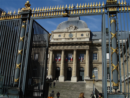 Entrée du Palais de Justice de Paris - Photo Claude Marti